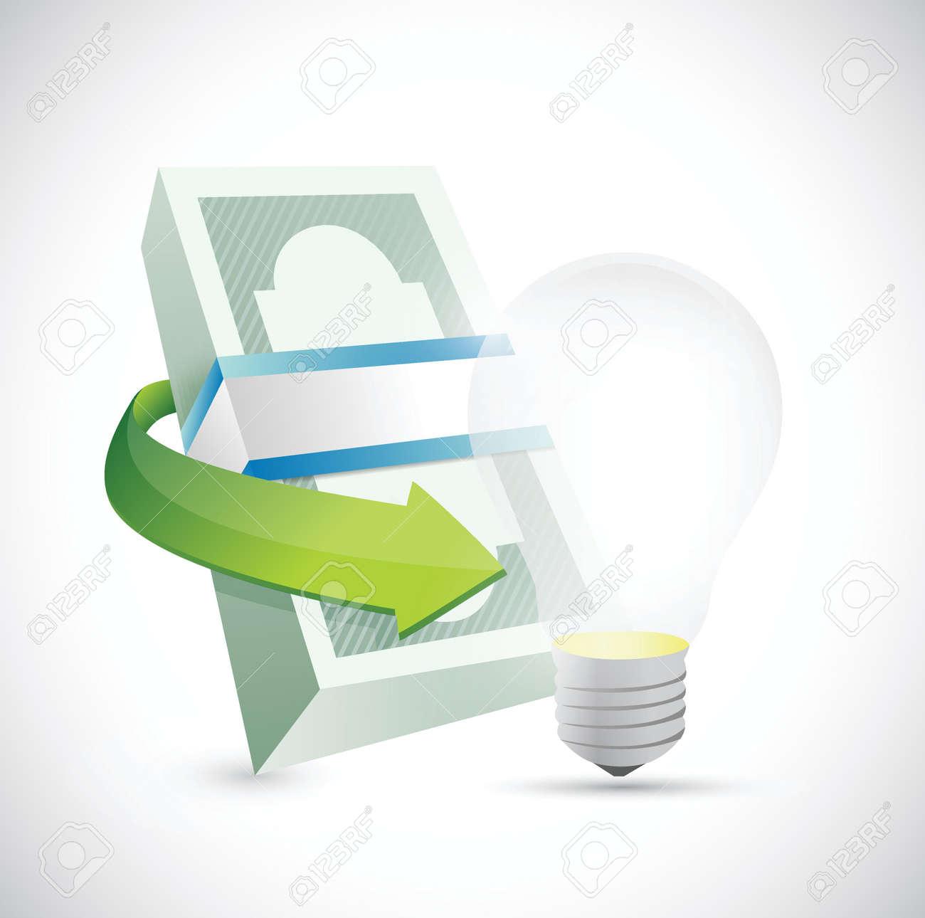energy money concept illustration design over a white background Stock Vector - 24654771