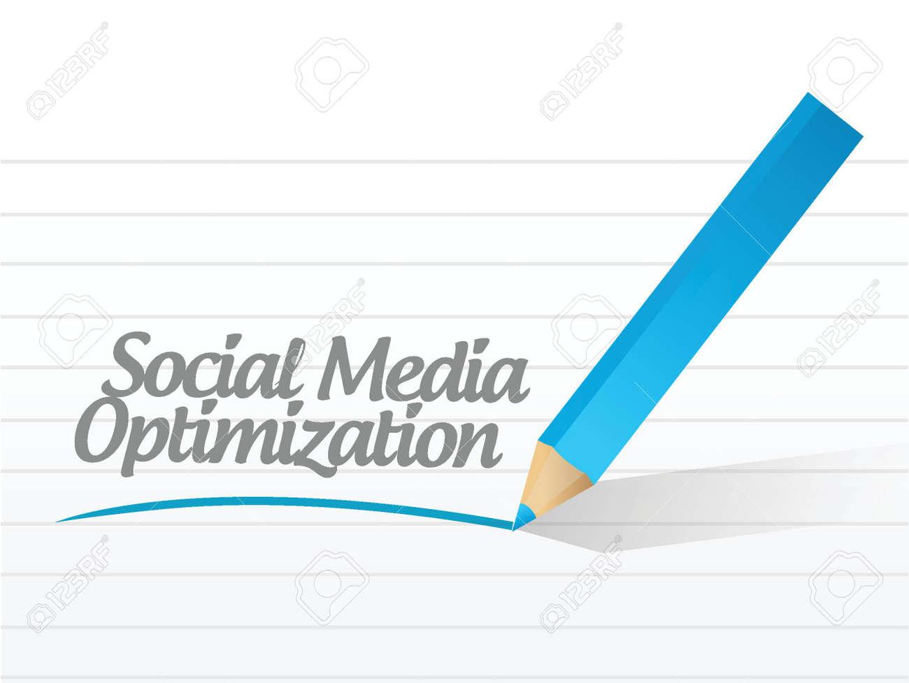 social media optimization message illustration design over a white background Stock Vector - 24654927