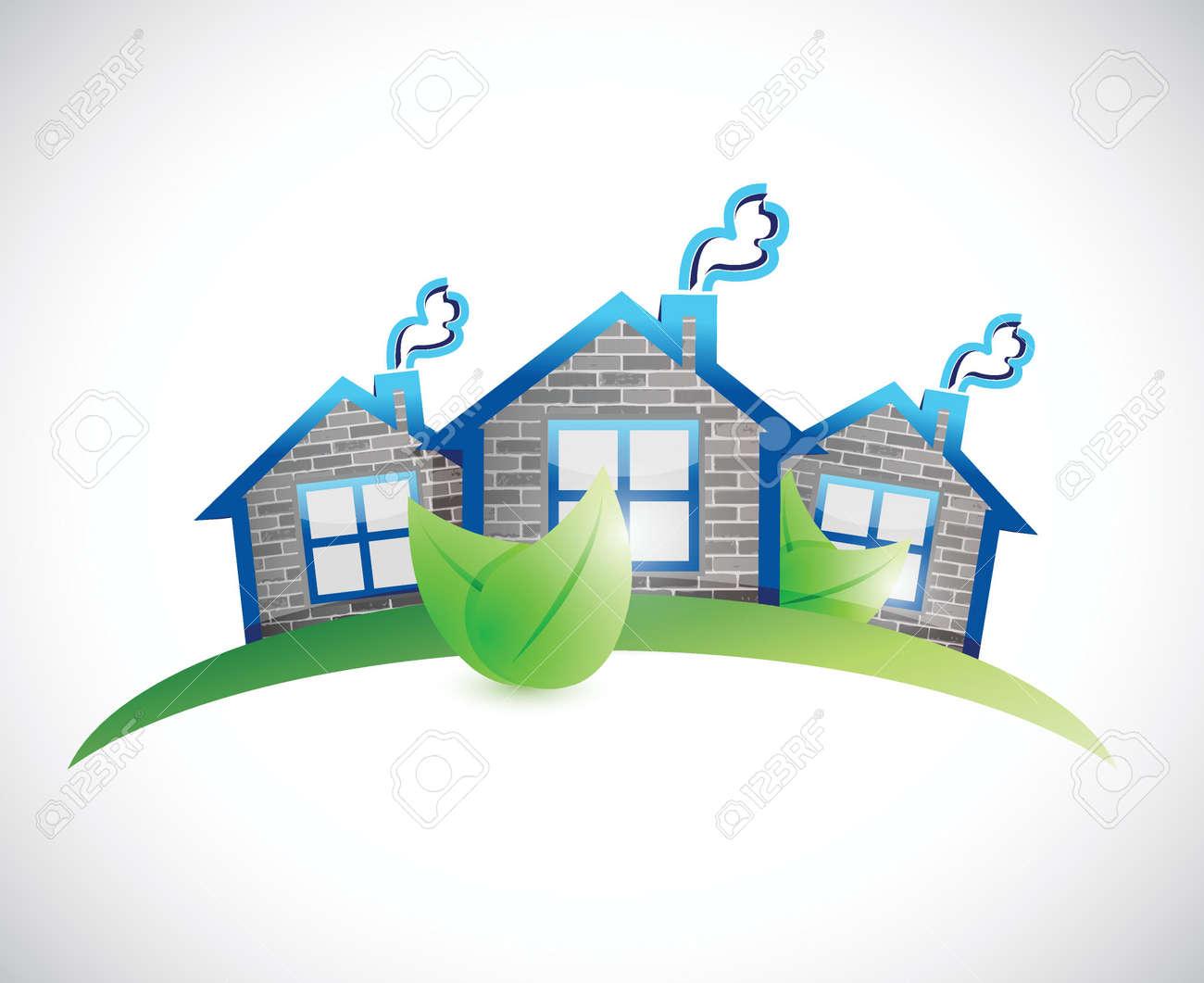 Hogares Verdes Simbolo De Bienes Raices Ilustracion De Diseno Sobre Un Fondo Blanco Ilustraciones Vectoriales Clip Art Vectorizado Libre De Derechos Image 24928636