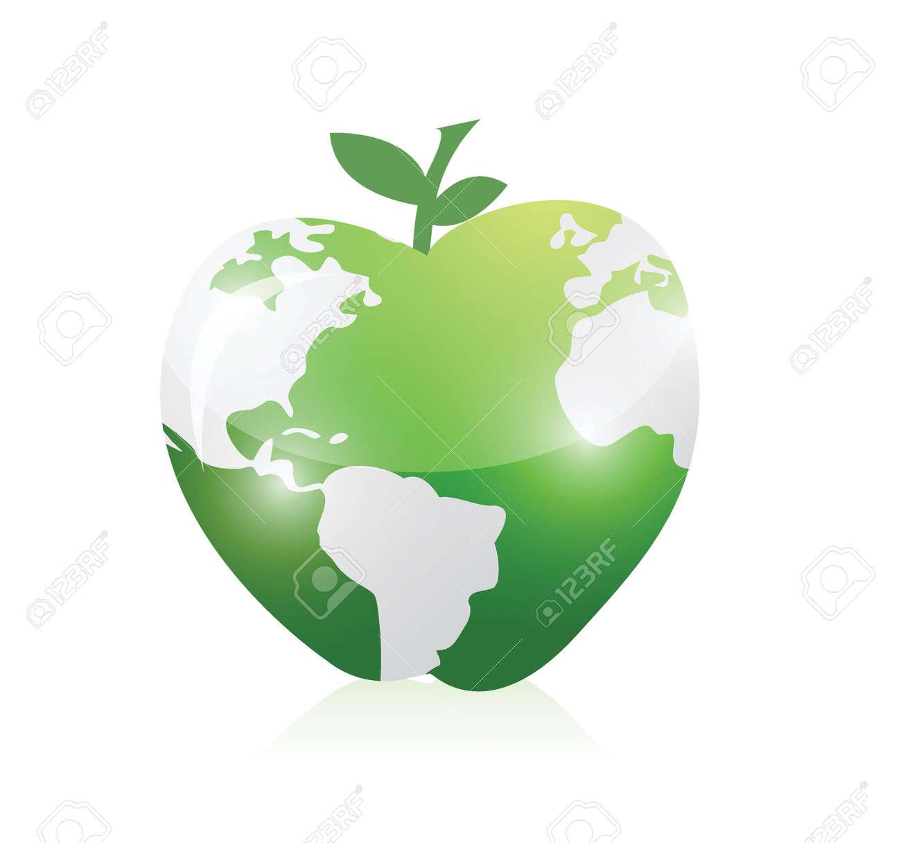 Green world map apple illustration design over a white background green world map apple illustration design over a white background stock vector 24928847 gumiabroncs Choice Image