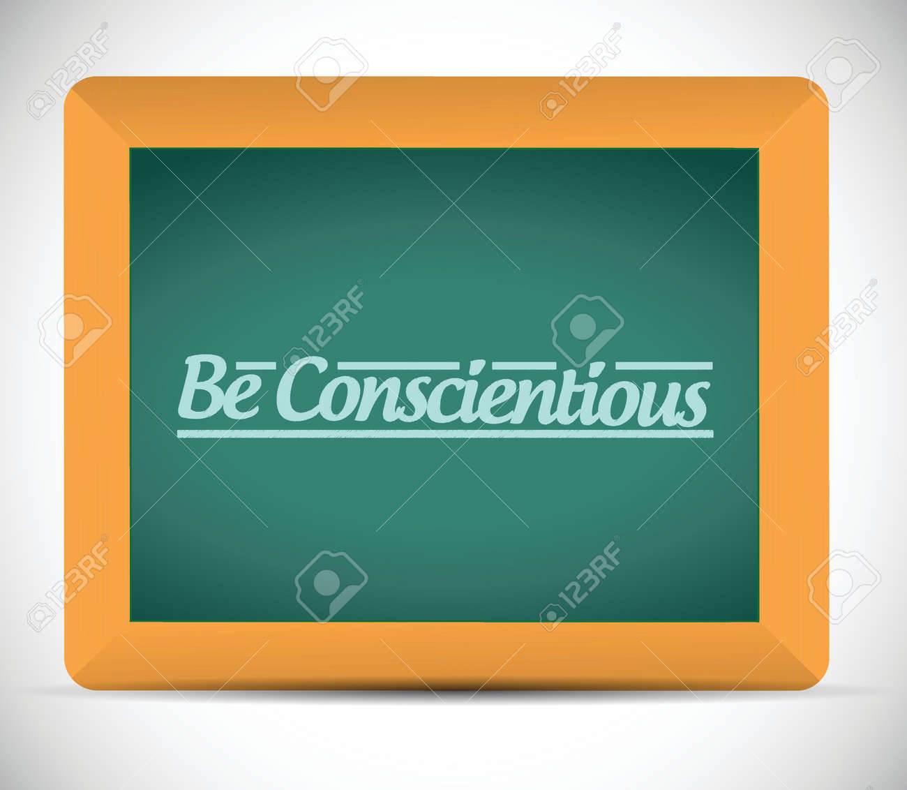 be conscientious illustration design over a white background Stock Vector - 24999172