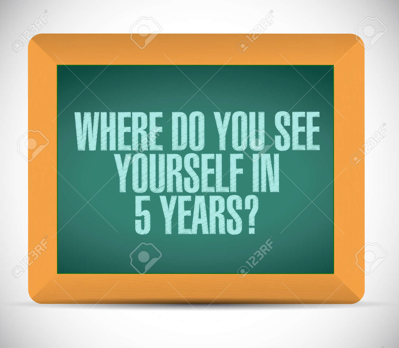 where do you see yourself message illustration design over a illustration where do you see yourself message illustration design over a white background