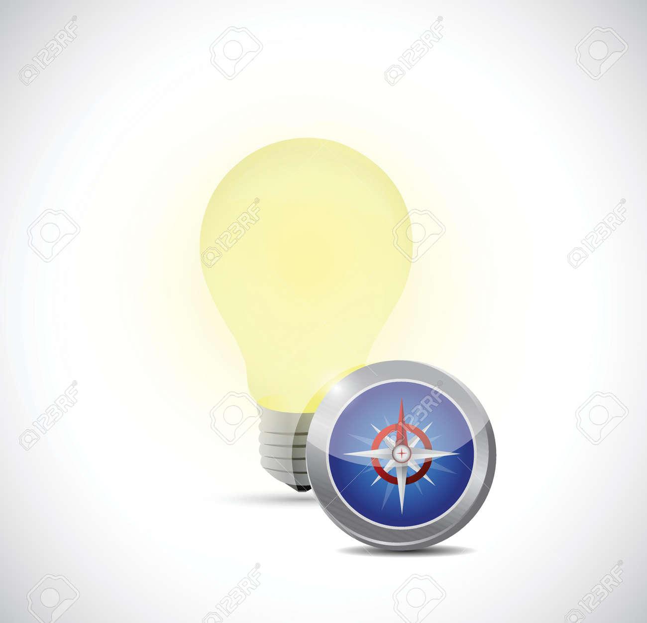 idea concept light bulb illustration design over a white background Stock Vector - 26504203