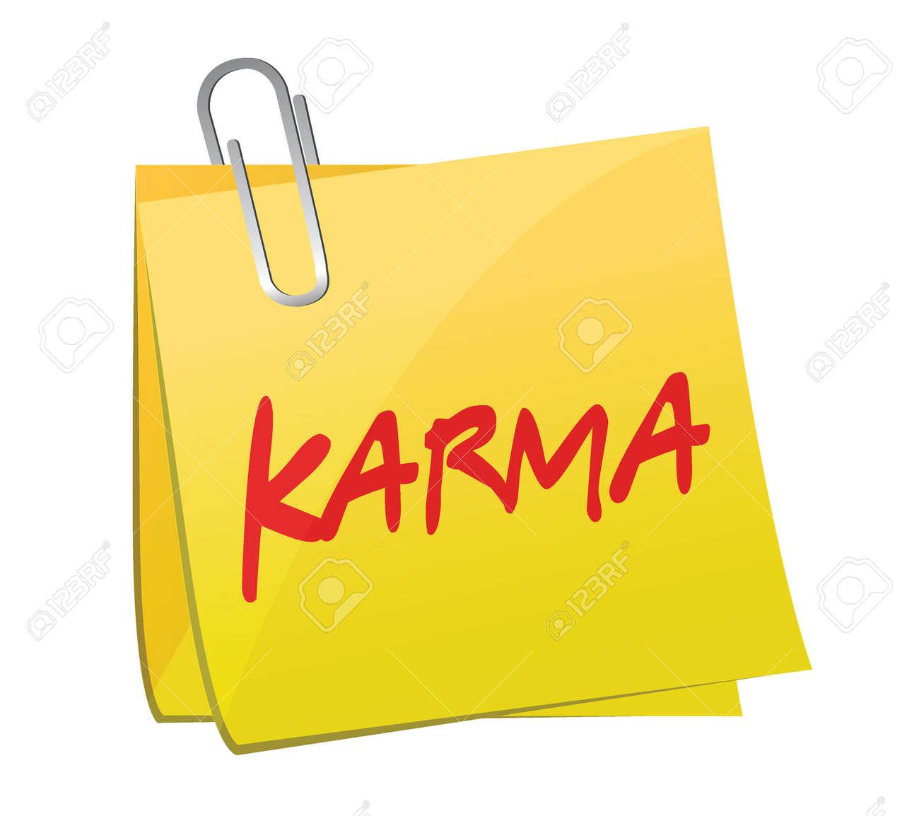 karma message post illustration design over a white background Stock Vector - 26689929