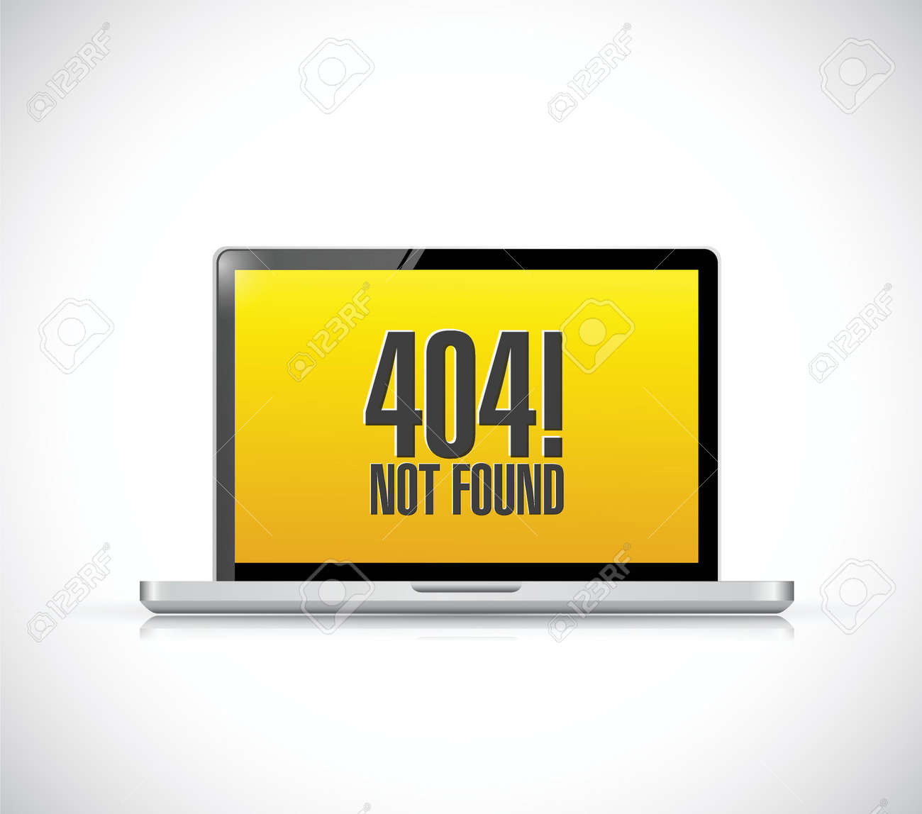 Background image 404 not found - 404 Not Found Message On A Computer Illustration Design Over A White Background Stock Vector