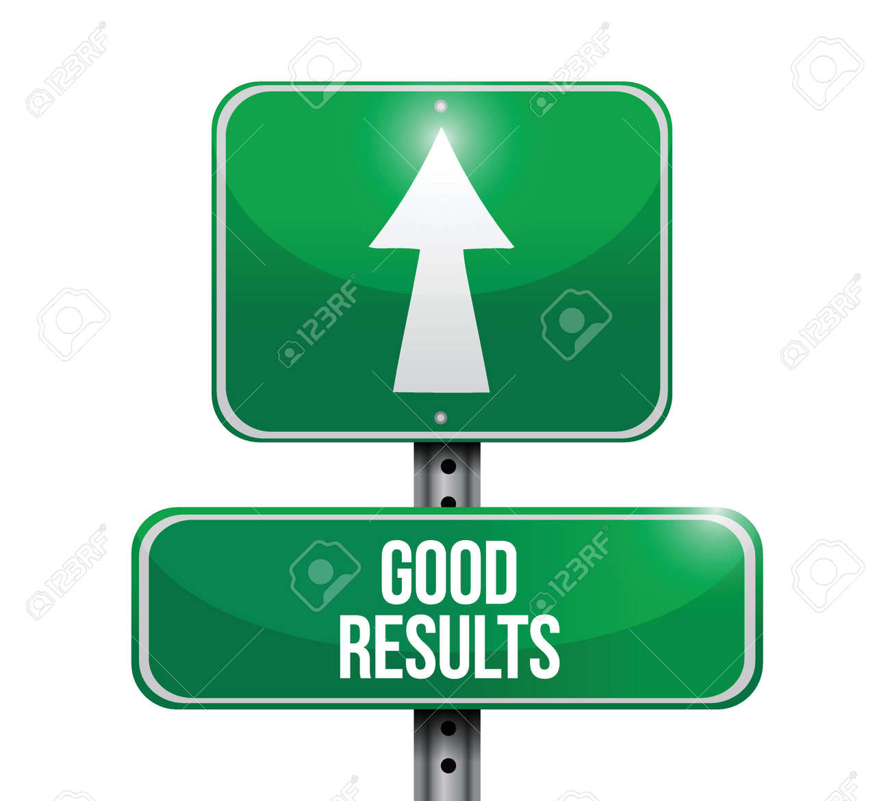good results signpost illustration design over a white background Stock Vector - 27968517