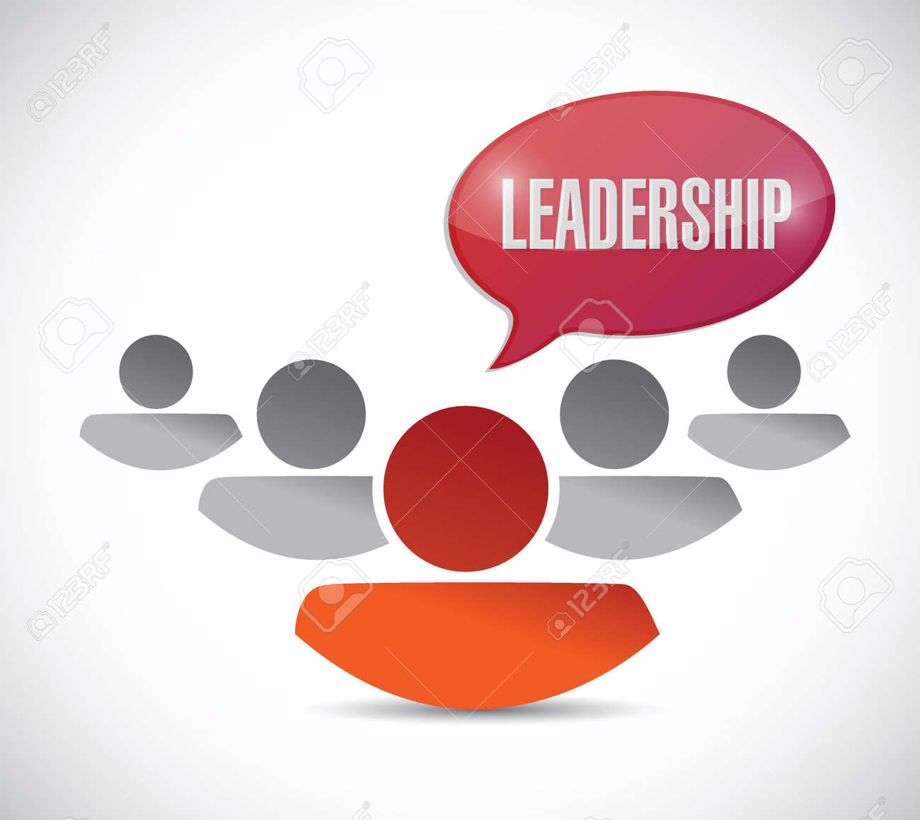 leadership sign and team illustration design over a white background Stock Vector - 28171931