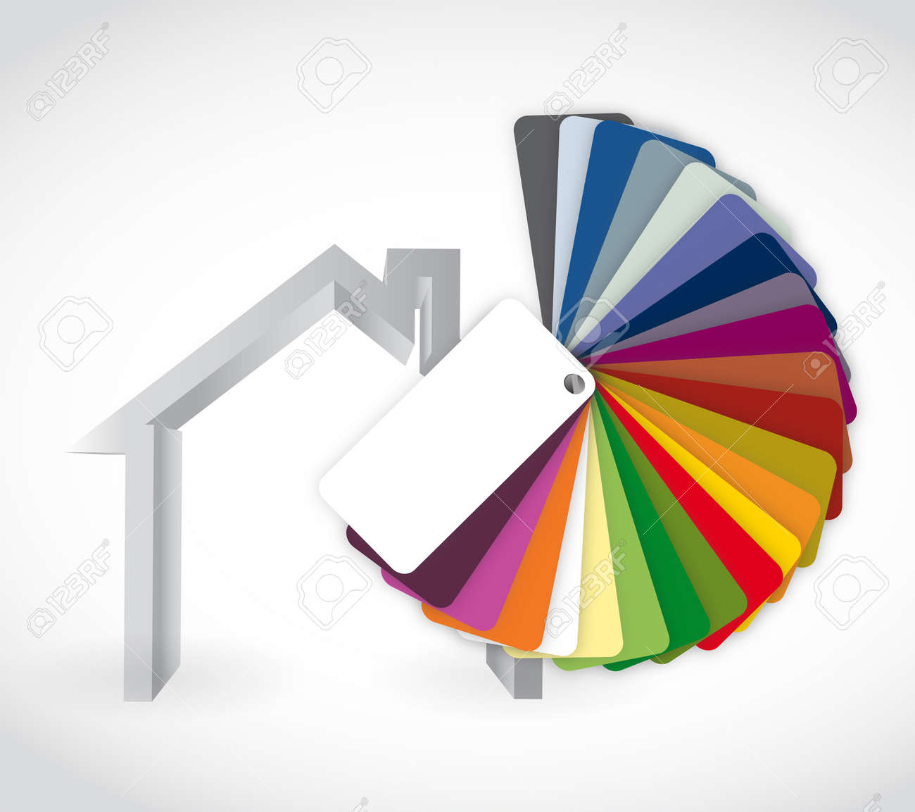 Haus Und Farbe Führer Symbol, Illustration, Design über Einem Weißen ...