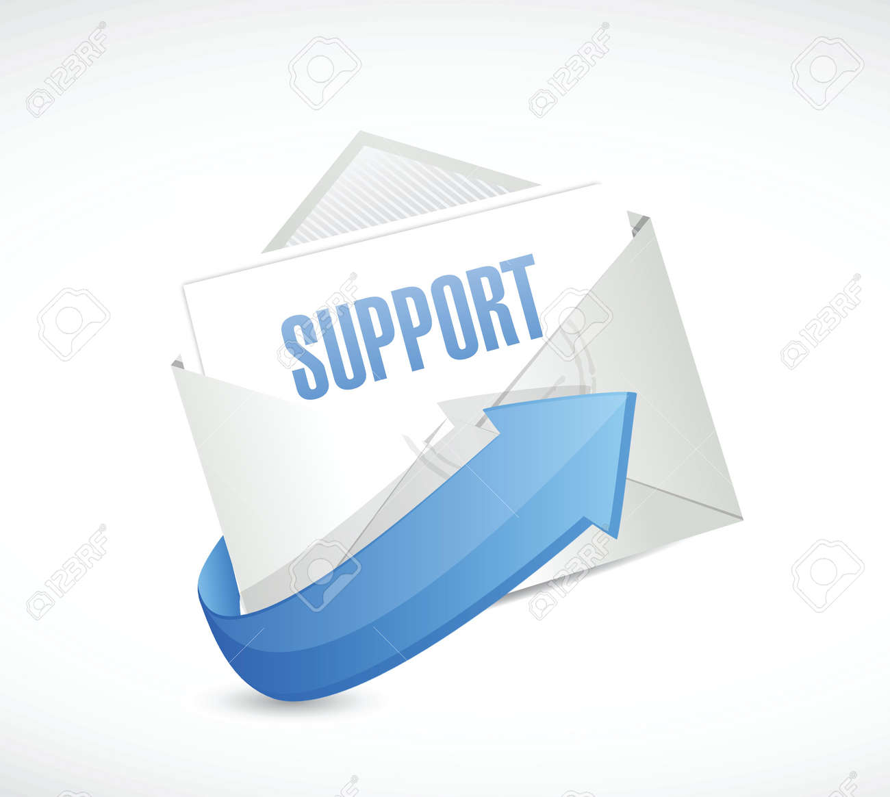Background image email support - Vector Support Envelope Email Illustration Design Over A White Background