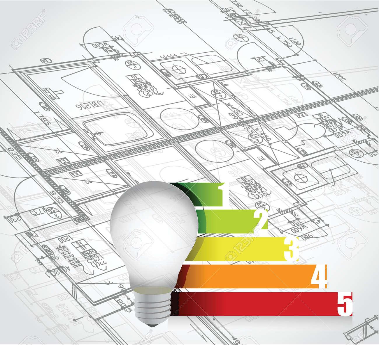 Blueprint and business graph illustration design over a white blueprint and business graph illustration design over a white background stock vector 32867055 malvernweather Choice Image