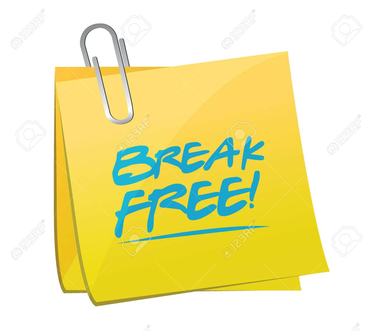 break memo post illustration design over a white background vector break memo post illustration design over a white background