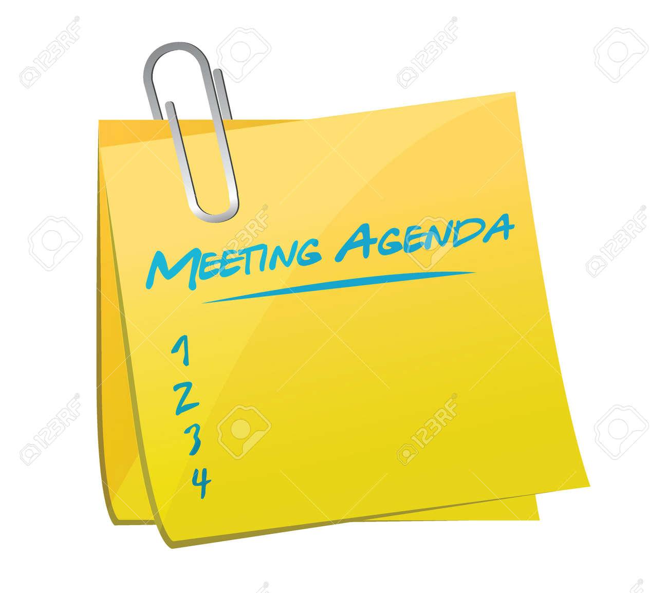 meeting agenda memo illustration design over a white background vector meeting agenda memo illustration design over a white background