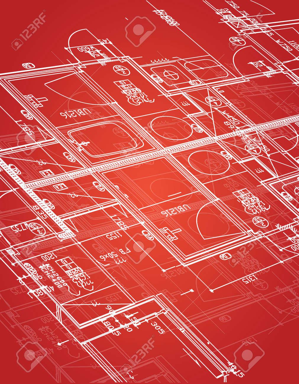 Blueprint illustration design over a red background royalty free blueprint illustration design over a red background stock vector 33228986 malvernweather Images