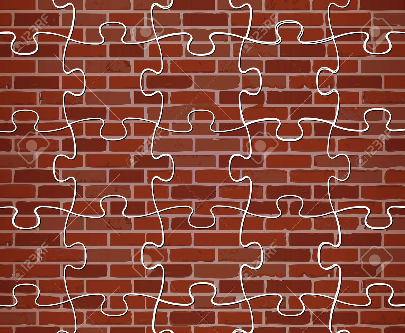 illustration colorful puzzle brick wall illustration design background - Brick Wall Design