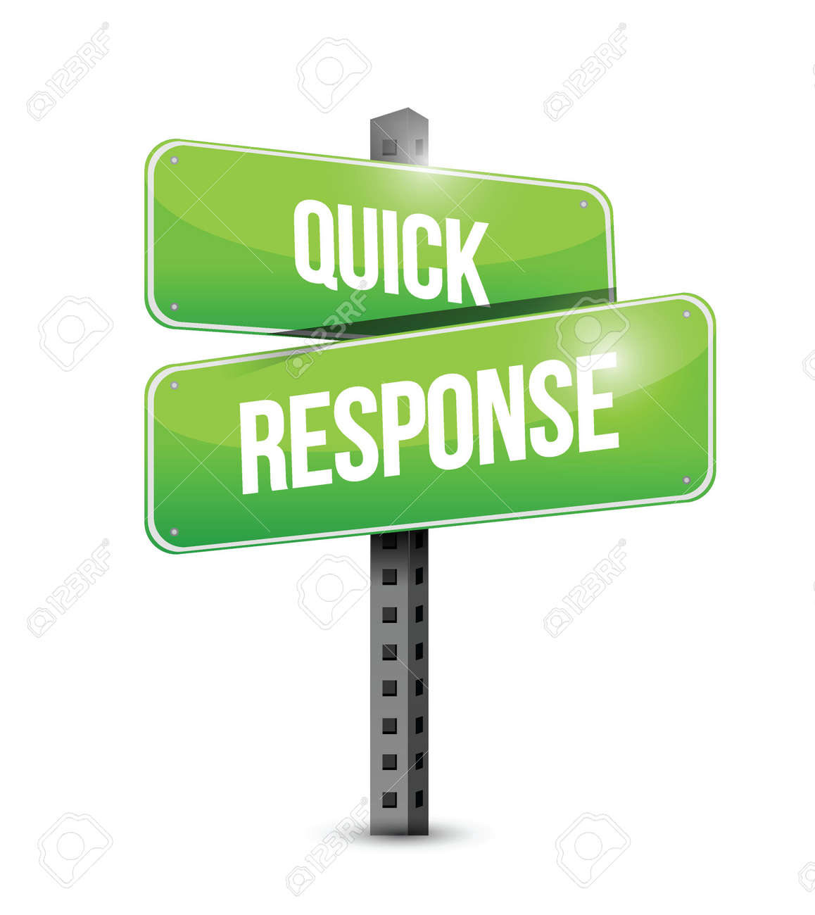Quick Response Sign Illustration Design Over A White Background ...