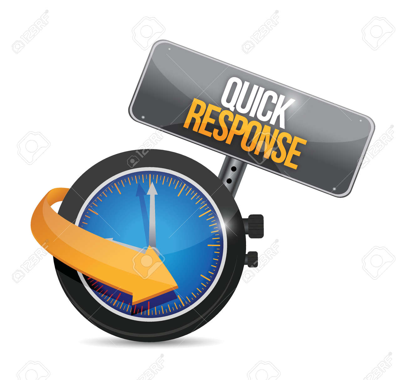 Quick Response Watch Sign Illustration Design Over A White ...