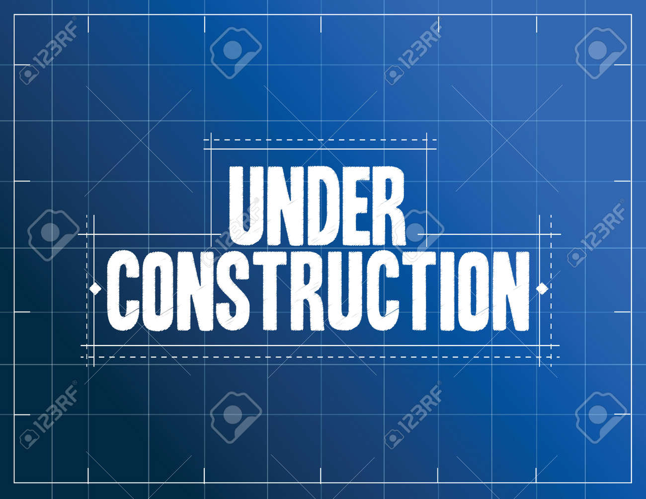 Perfect Under Construction Blueprint Illustration Design Over A Blue Background  Stock Vector   34882972