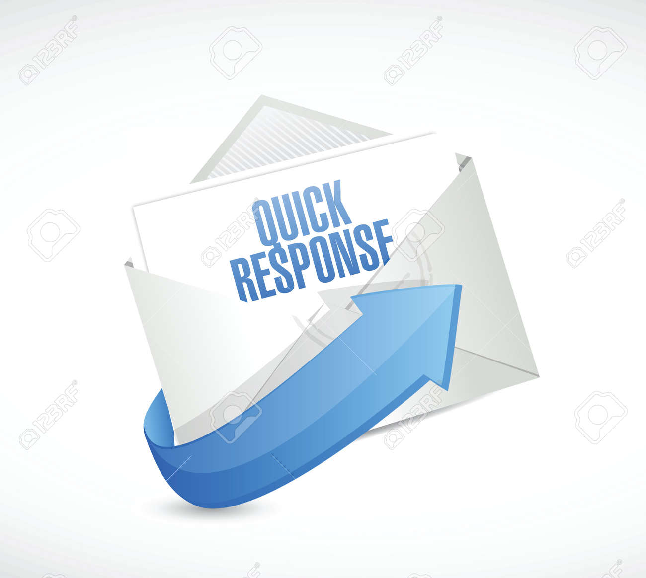 quick response email illustration design over a white background