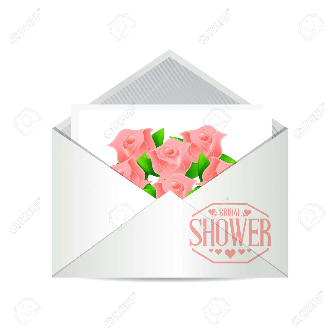 bridal shower envelope invite sign illustration design graphic