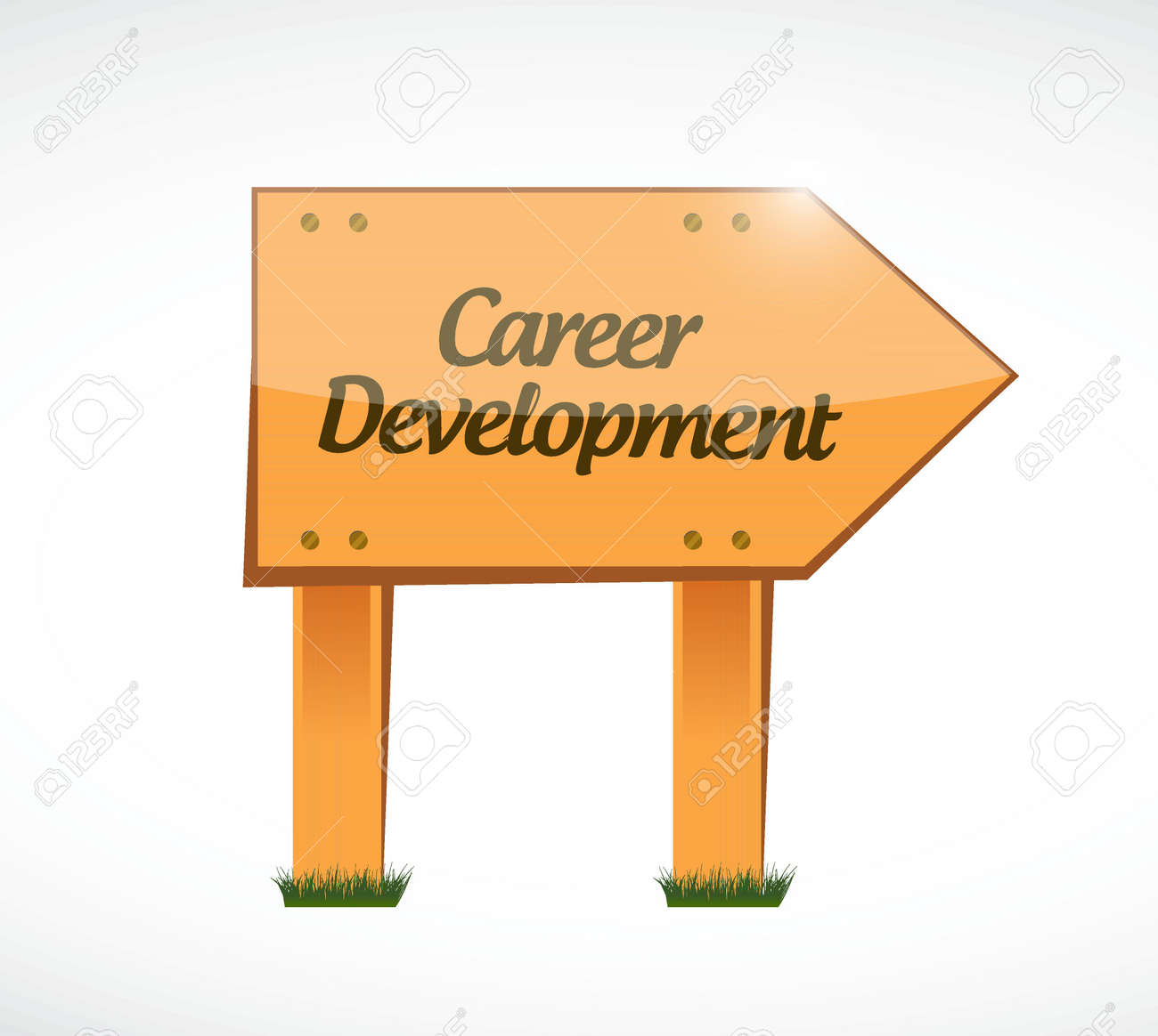 career development wood sign concept illustration design graphic illustration career development wood sign concept illustration design graphic