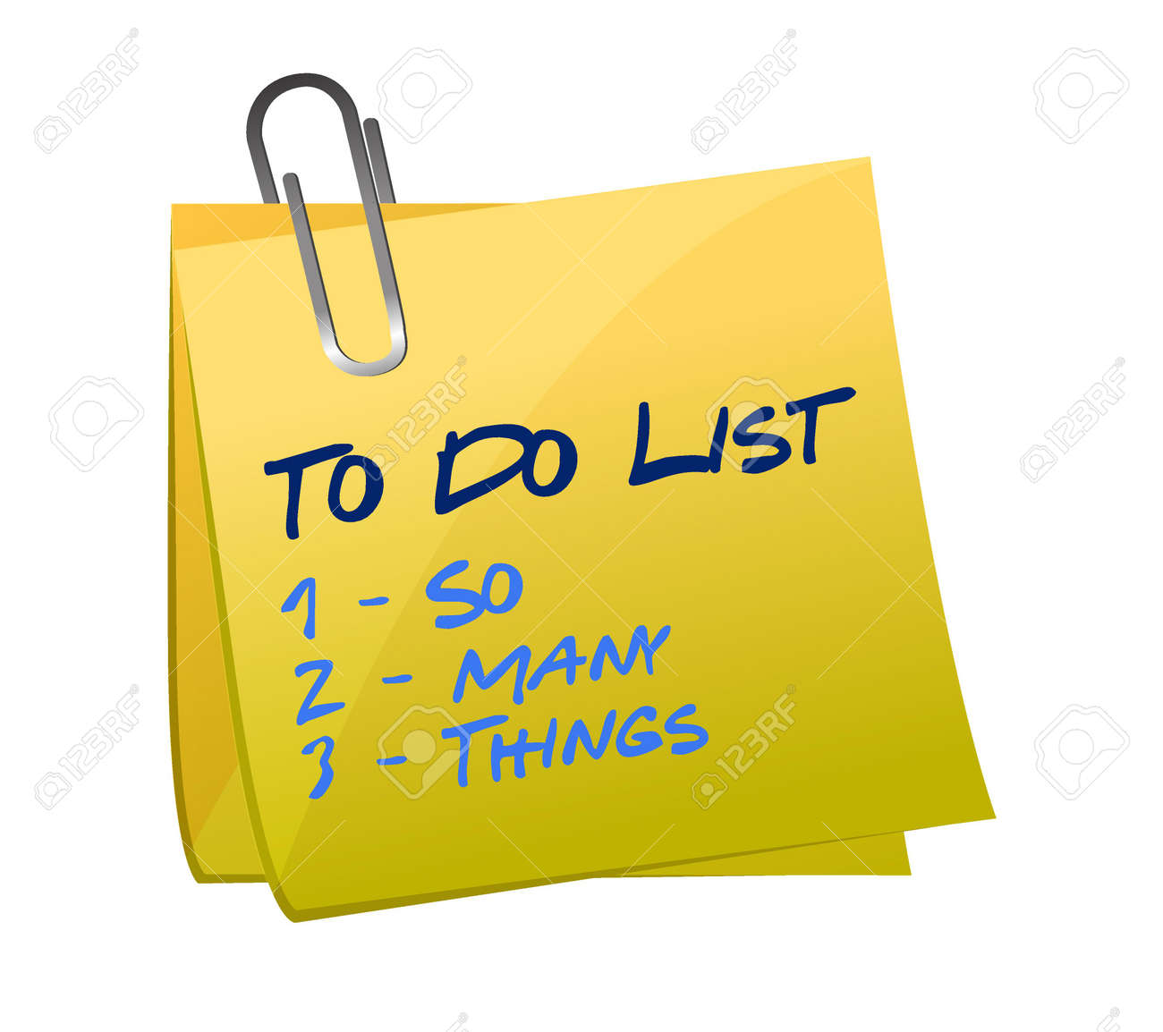 so many thing to do list illustration memo post design royalty free