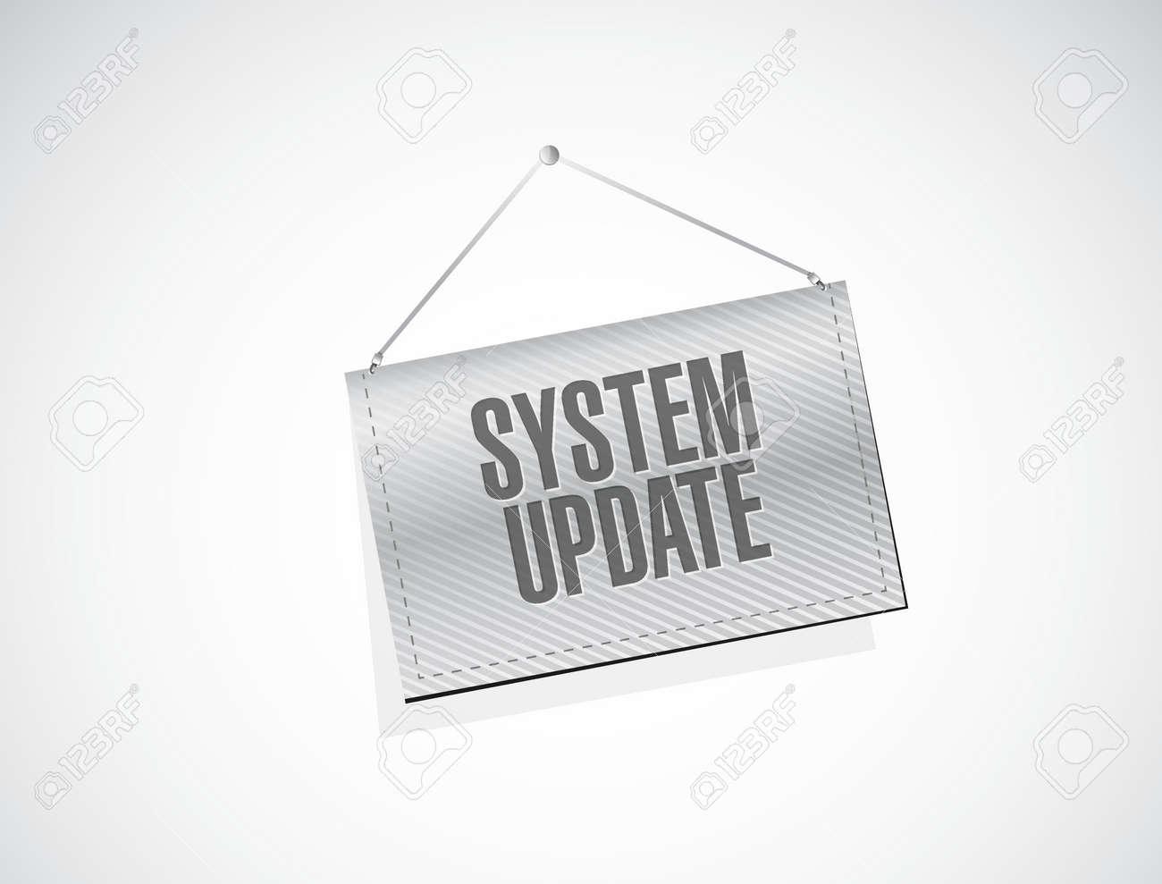システム更新バナー記号概念イラスト デザイン グラフィック