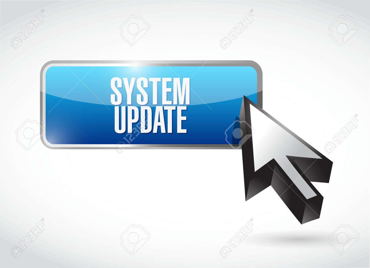 システム更新ボタン記号概念イラスト デザイン グラフィック