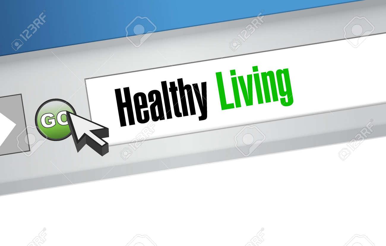 healthy living website sign concept illustration design graphic