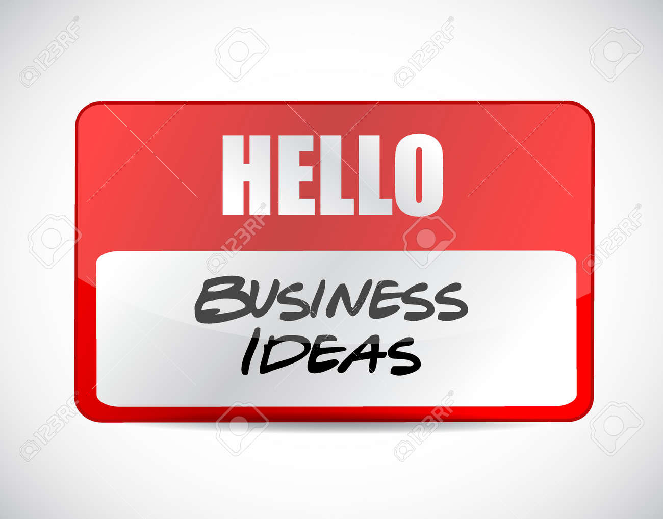 Business Ideas Name Tag Sign Concept Illustration Design Graphic ...