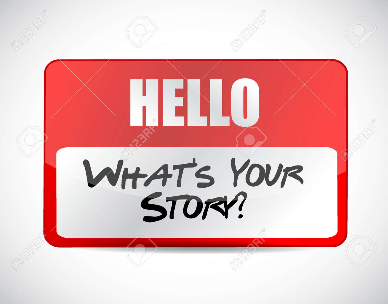 whats your story name tag sign concept illustration design graphic