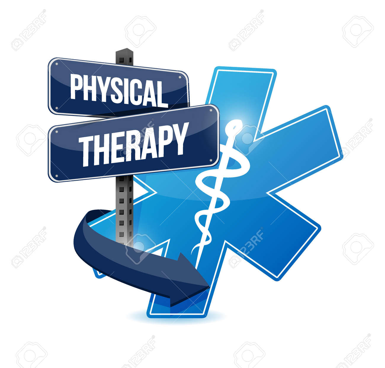 Physical Therapy Medical Symbol Isolated Sign Illustration Design