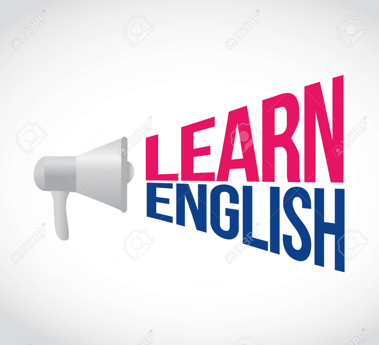 Learn English Loudspeaker Message Sign Illustration Design Graphic Royalty Free Cliparts Vectors And Stock Illustration Image 97729473
