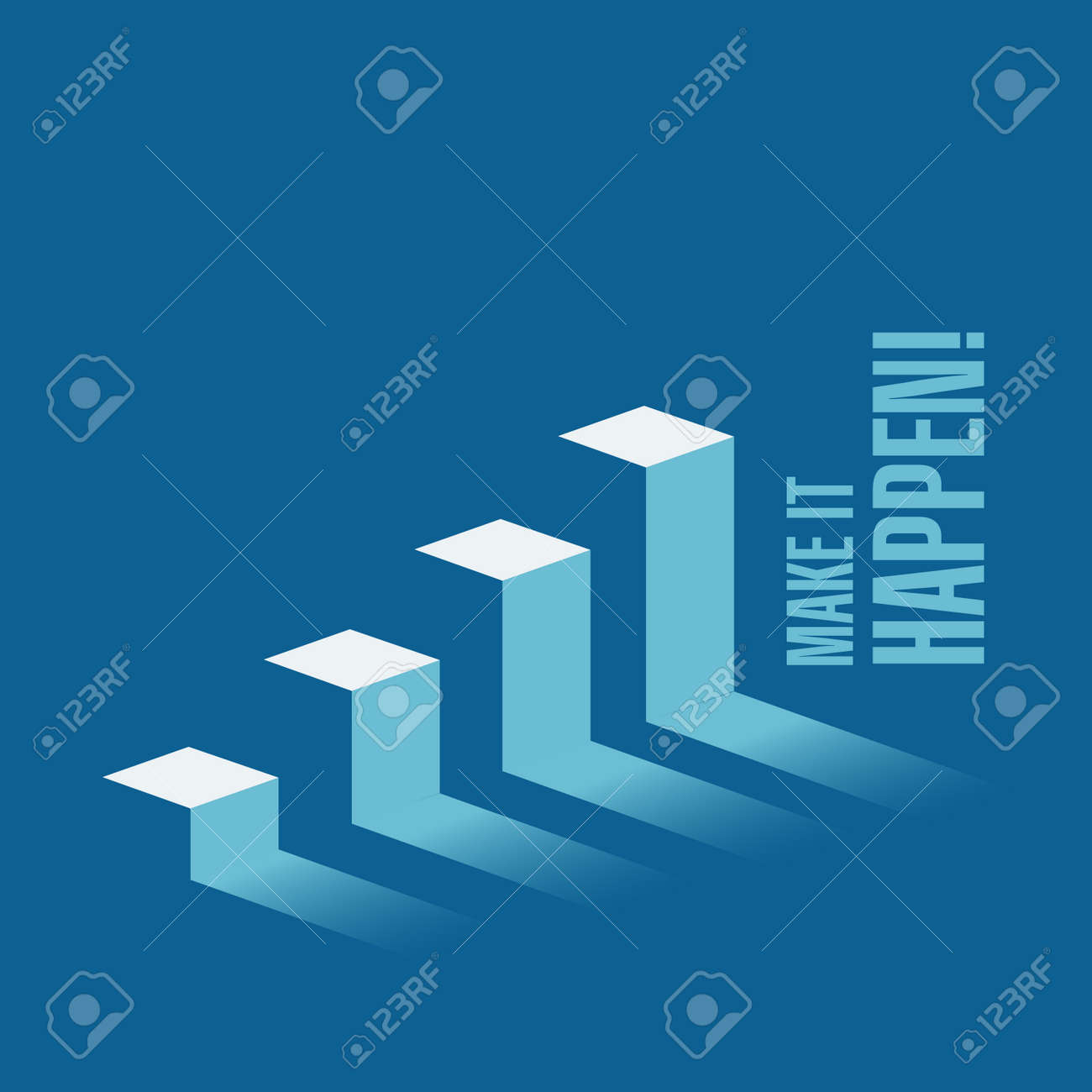 Make it happen business graph message concept isolated over a