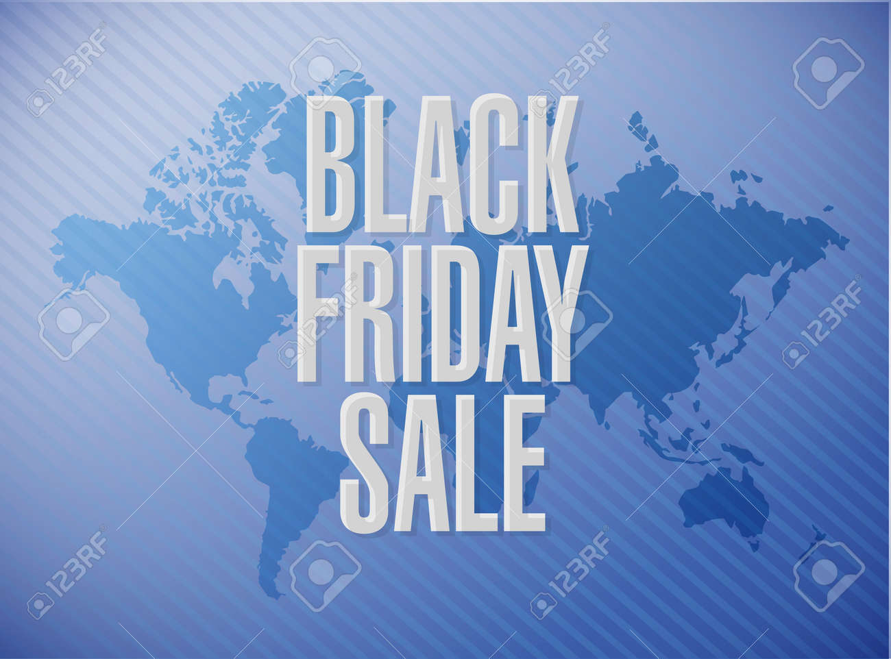 Black Friday sale message concept illustration isolated over..