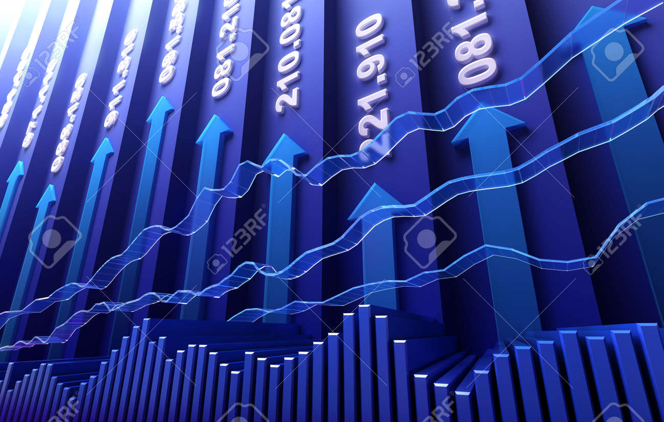 Stock market abstract background Stock Photo - 8170080