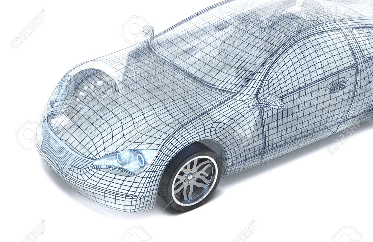 Design my car - Car Design Wire Model My Own Design Stock Photo 12177845