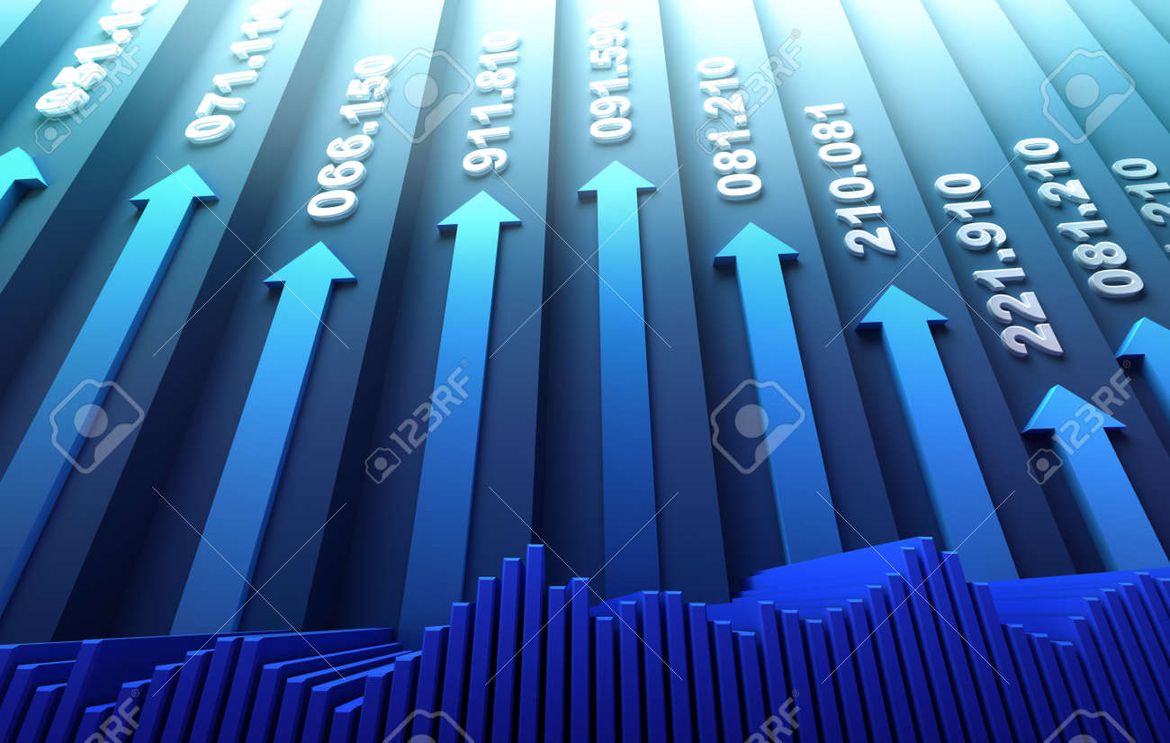 Stock market abstract background Stock Photo - 15607763