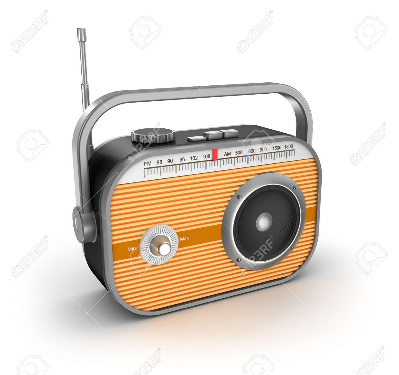 Retro radio on white background Stock Photo - 16798198