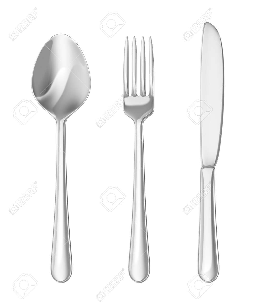 Cutlery Set Spoon Fork Knife Stock Photo Picture And Royalty Free