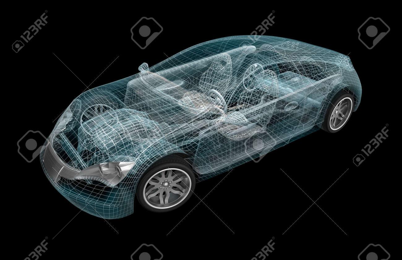 Design my car - Car Wireframe My Own Design Stock Photo 17964817