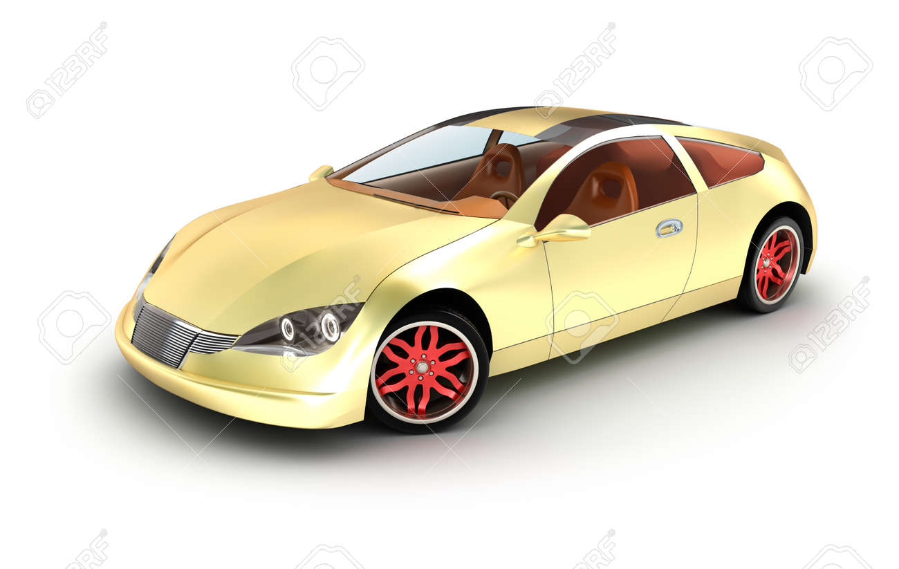 Golden car concept  My own design Stock Photo - 18345889