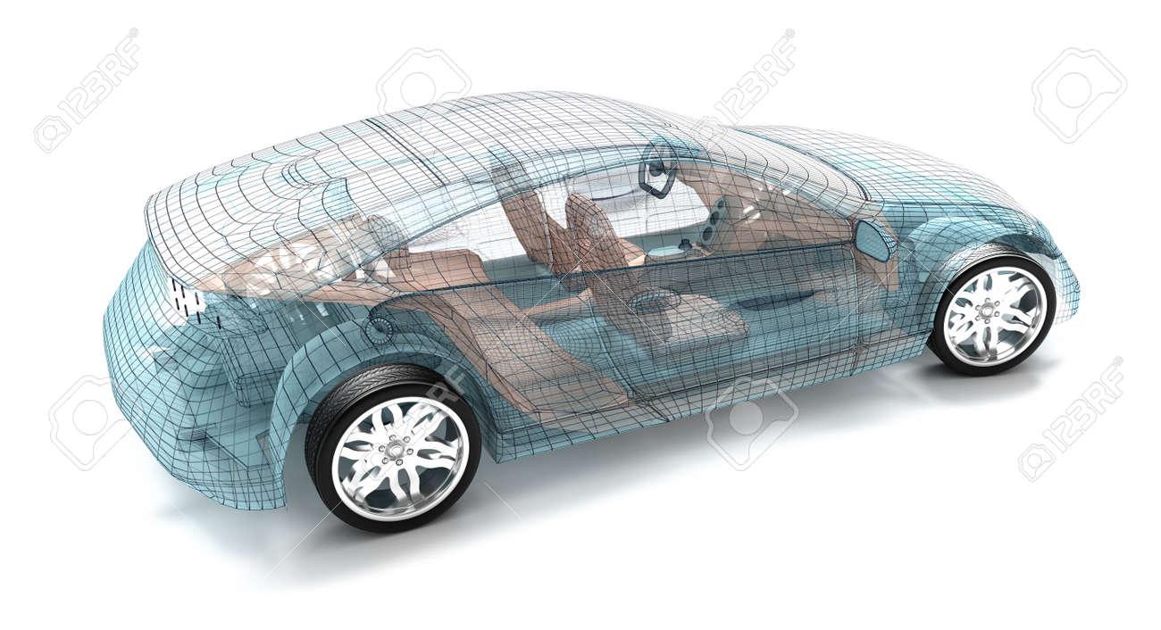Design of car frame - Wire Frame Car Car Design Wire Model My Own Design Stock Photo