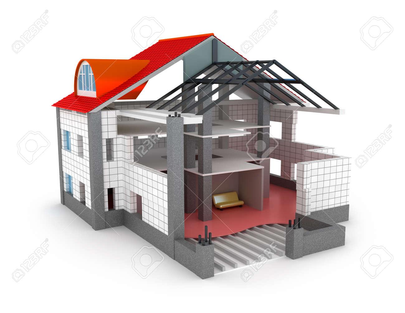 Architektur Plan Haus Isoliert Auf Weissem Mein Eigenes Design