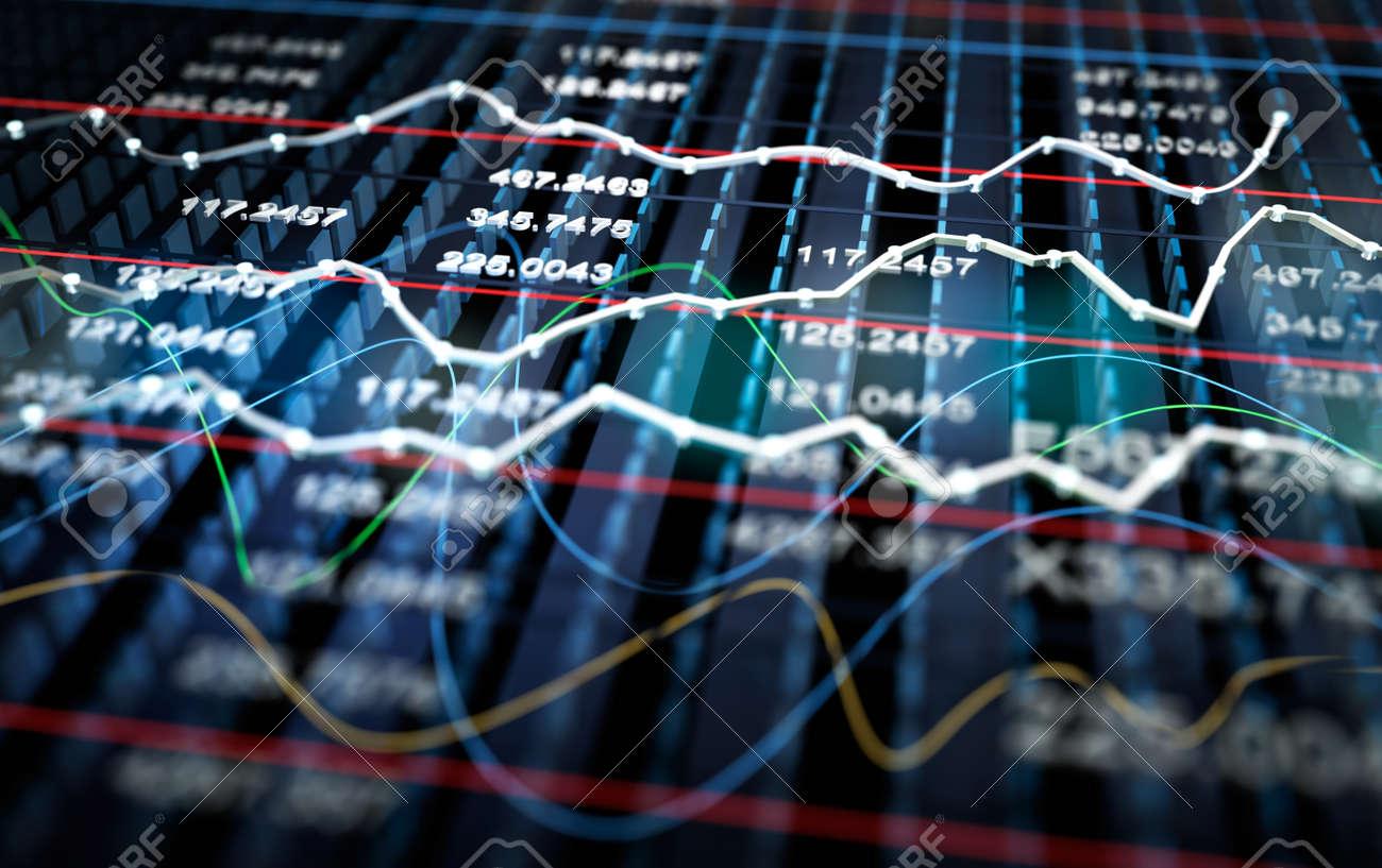 Stock exchange graph background Stock Photo - 40012544