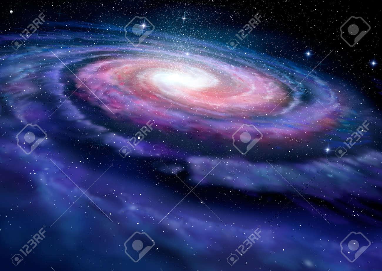 Spiral galaxy illustration of Milky Way Stock Illustration - 41248553