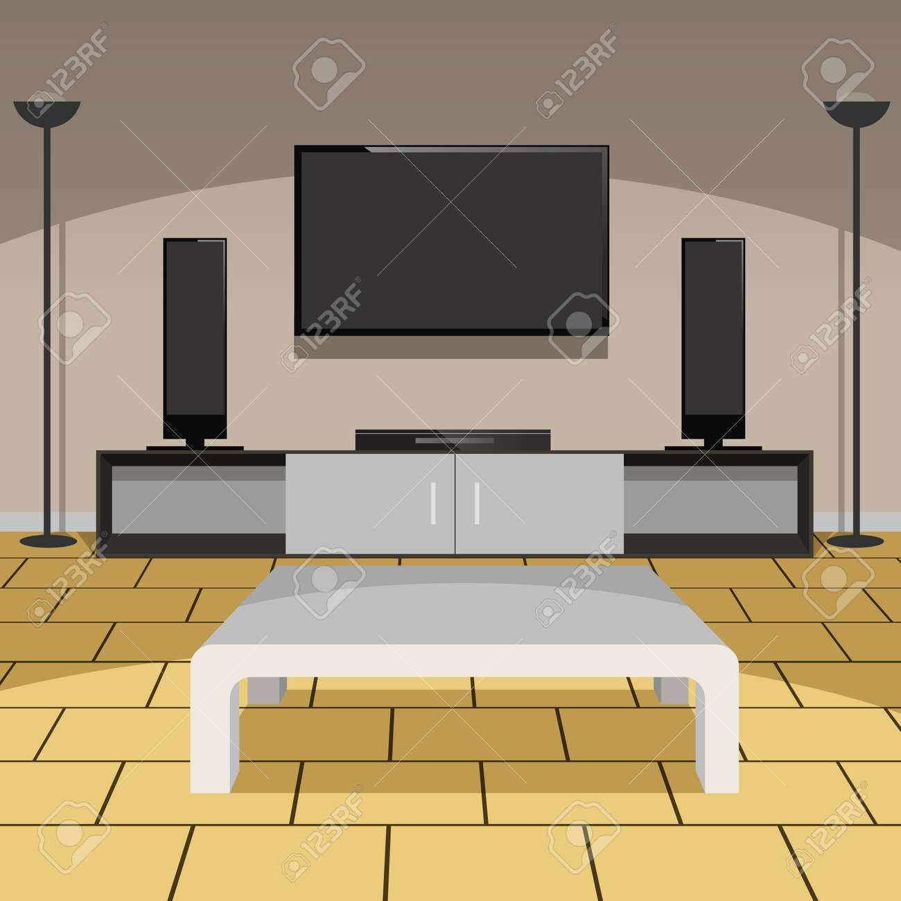 living room appliances. Living room with furniture and home appliances Stock Vector  29298009 Room With Furniture And Home Appliances Royalty Free