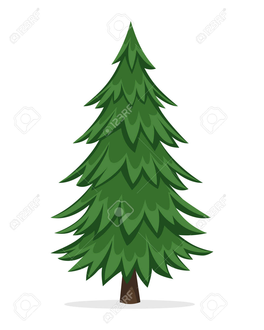cartoon pine tree royalty free cliparts vectors and stock rh 123rf com pine tree vector free pine tree vector art
