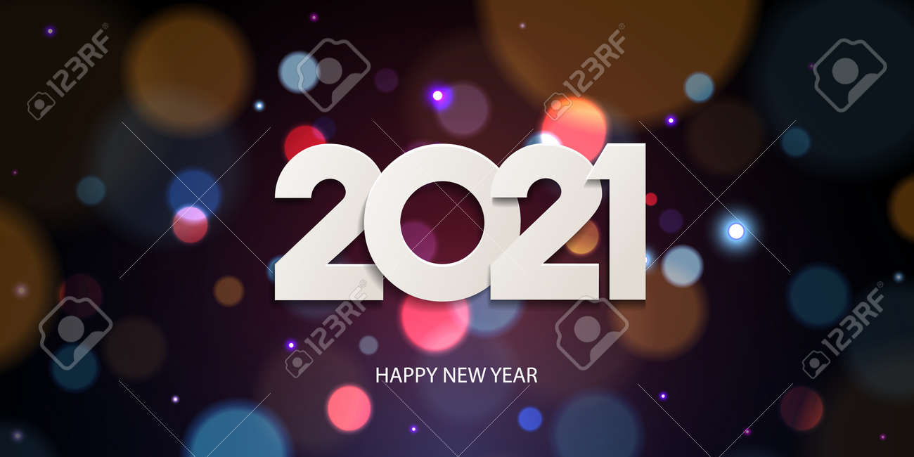 happy new year 2021 holiday greeting card design white paper royalty free cliparts vectors and stock illustration image 141707206 happy new year 2021 holiday greeting card design white paper