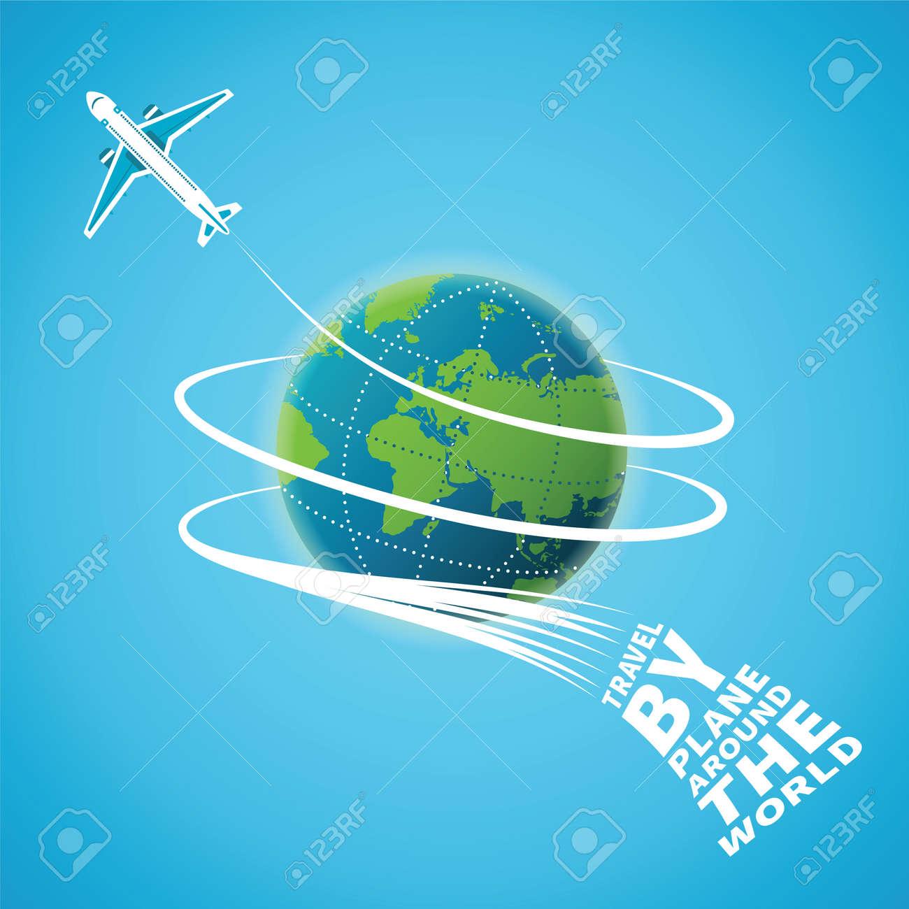 Air travel around the world concept - 36054925