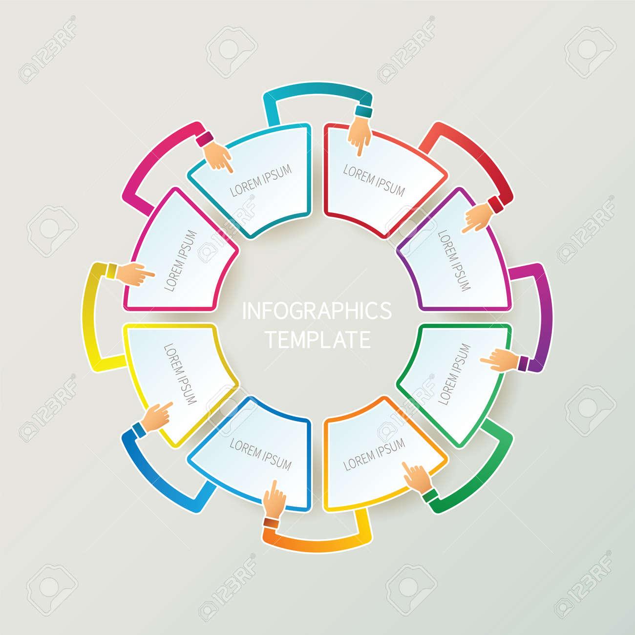 Resumen 8 Pasos Plantilla Infografía En 3D Al Estilo De Esquema De ...